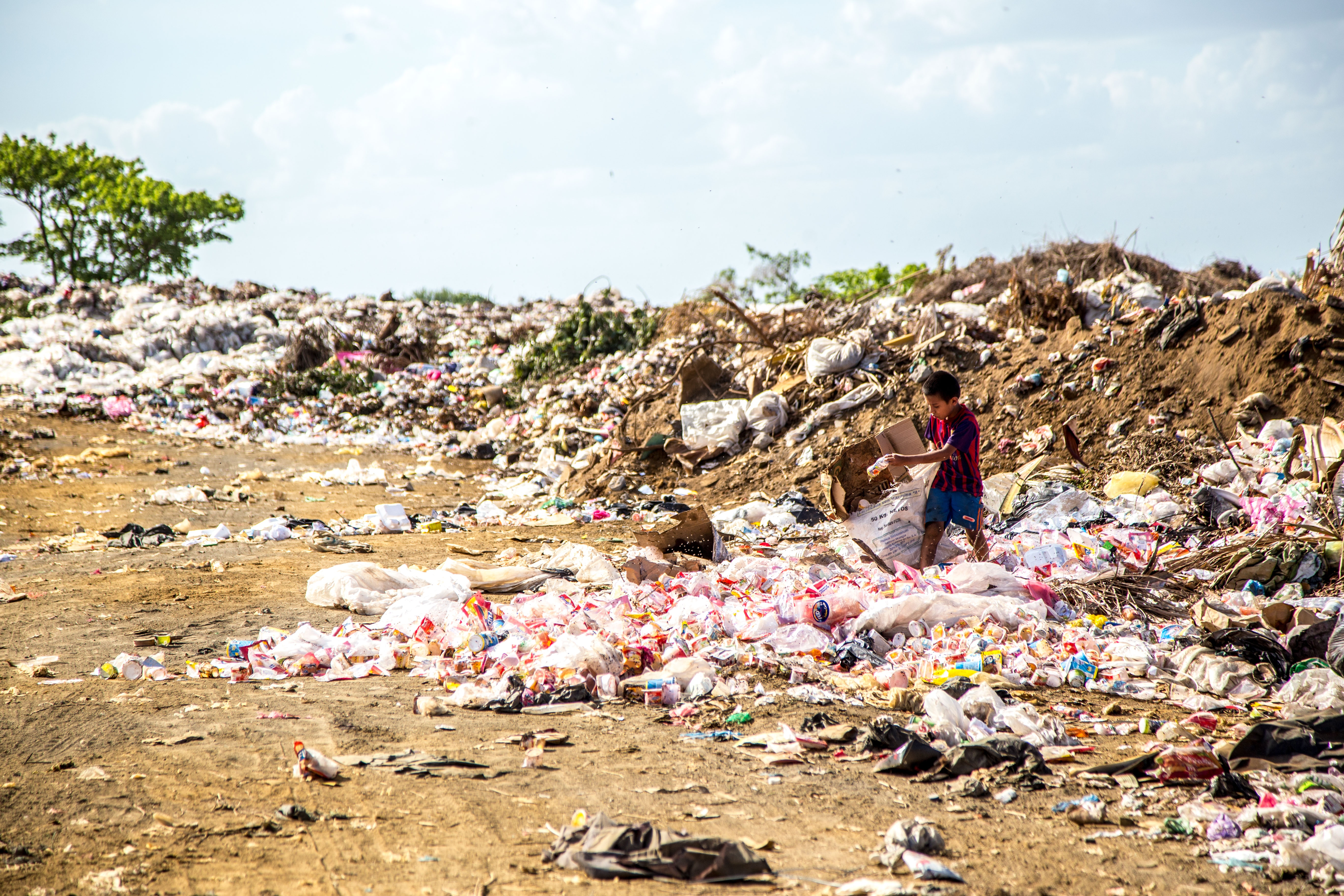 Plastik ender i havene og naturen