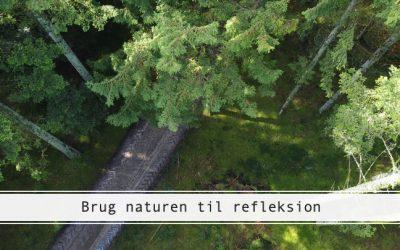 Brug naturen til at reflektere over dit liv